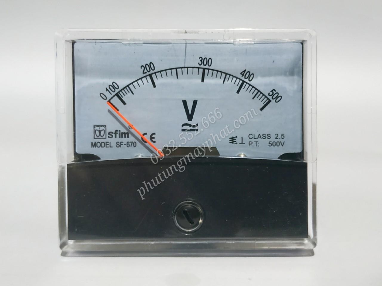 Đồng hồ hiển thị điện áp SF-670