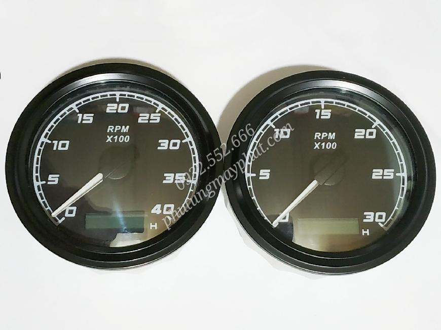 Đồng hồ báo tốc tua máy FMHB-BN-4KL class=